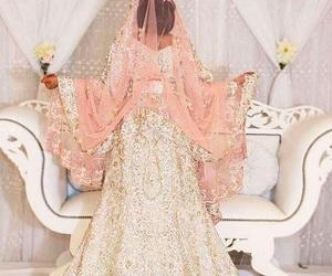 fashion, woman girl, and dress wedding image