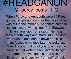 percy jackson and headcanon image