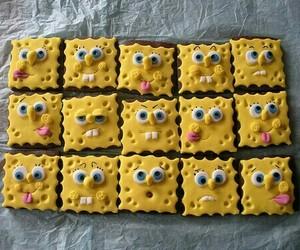 spongebob, food, and yellow image