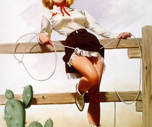 Cowgirl and Pin Up image