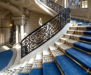 stairs, blue, and palace image