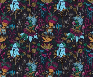 background, fairy, and pattern image