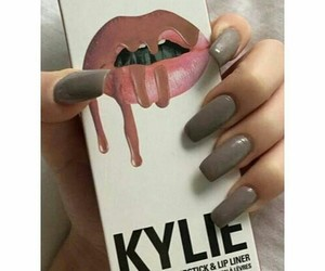 nails, kylie, and lipstick image