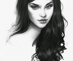 girl, art, and draw image