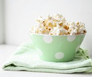 popcorn, food, and green image