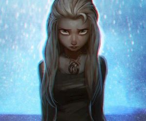 elsa, frozen, and dark image