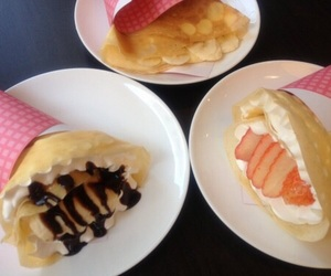 food, crepes, and sweet image