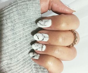 hybrid, marble, and nails image