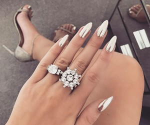 beauty, styles, and silver nails image