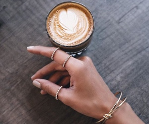accessories, coffee, and rings image