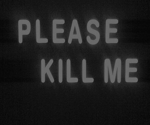 kill, black and white, and text image