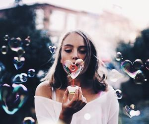 colours, girl, and drinks image