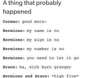 hermione, hp, and otp image