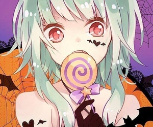 anime, Halloween, and anime girl image