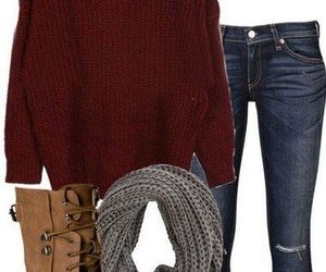 outfit, clothes, and fall image