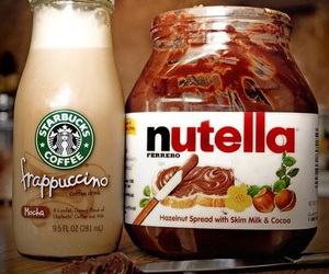nutella, starbucks, and frappuccino image