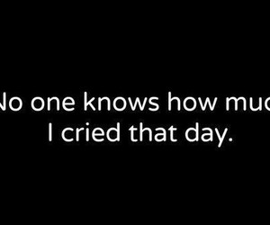 cry, sad, and quote image
