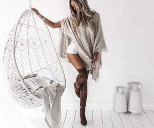 boots, cardigan, and Dream image