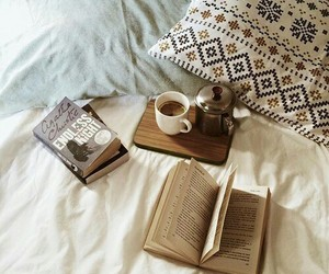 book, cozy, and pillow image