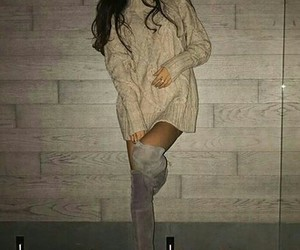 style, sweater, and boots long image