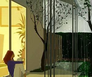 rain, art, and music image