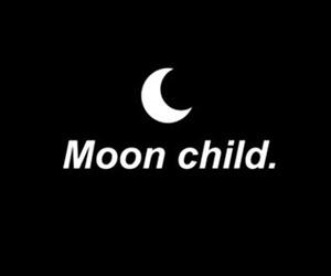 moon, black, and grunge image