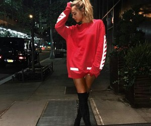 alexis ren, model, and red image