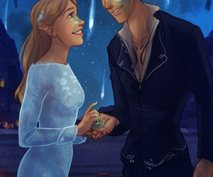 feyre, book, and rhysand image