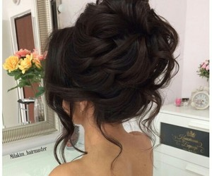 hair style, Prom, and brunette image