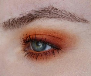 eyes, orange, and makeup image