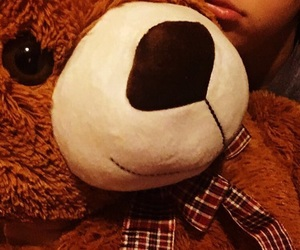 lips, teddybear, and loving image