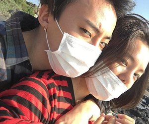 asian, couple, and mask image