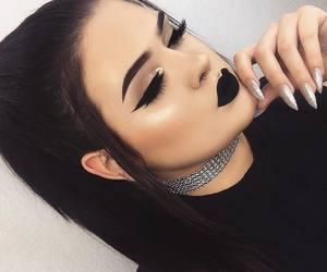 makeup, black, and lips image