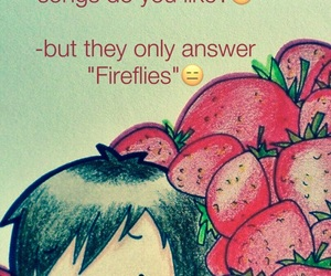fireflies, Owl City, and strawberry avalanche image