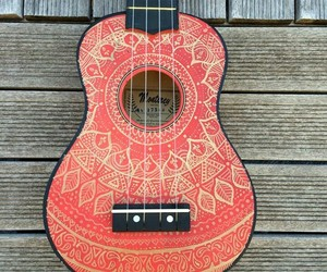 guitar, mandala, and art image