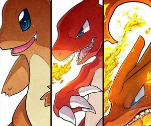 chameleon, fire type, and pokemon image
