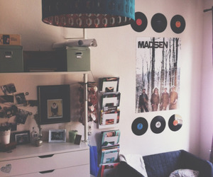 bedroom, decor, and music image