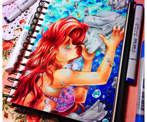 amazing, ariel, and blue image