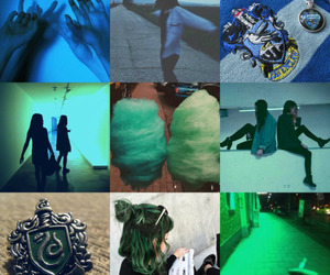 blue, Collage, and harry potter image