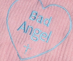 pink, angel, and bad image