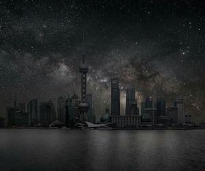 stars, city, and night image