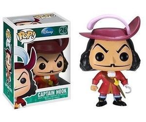 peter pan, captain hook, and funko pop image