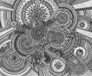 arte, black and white, and doodles image