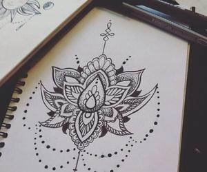 draw, mandala, and art image