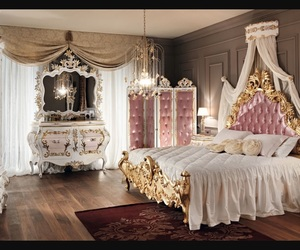 bedroom, pink, and princess image