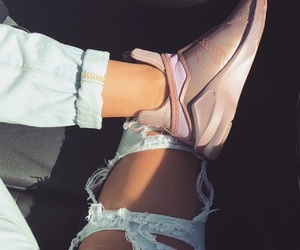 pretty, puma, and ripped jeans image