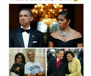 adorable, barack obama, and first lady image