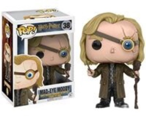 harry potter, mad eye moody, and funko pop image