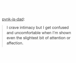 affection, attention, and uncomfortable image