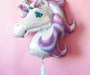 unicorn, balloon, and pink image